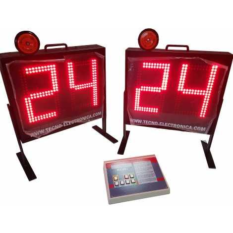 MDG SEG1 - Marcador bola posse operando em conjunto ou de forma independente do marcador. Dígitos de 27 cm. altura