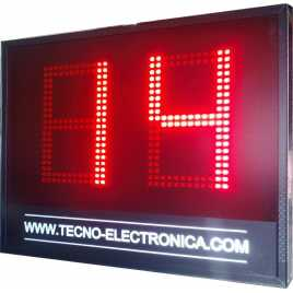 MDG SEG2 - Segnapunti elettronico visualizzatori dei 24 secondi. Cifre di 34 cm. altezza