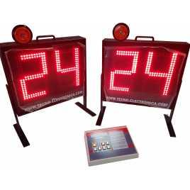 MDG SEG2 - Marcador de possessió de pilota independent del marcador principal. Dígits de 34 cm. d'alçada