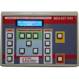 MDG D18S - Tabellone elettronico per palazzetti sportivi e grandi palestre a 18 caratteri di 18 cm. altezza