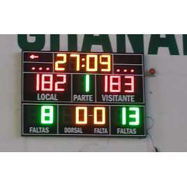 MDG D18S - Electronic scoreboard sport with 18 Digits of 18 cm. height