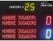 Marcador electrónico de frontón y pelota vasca modelo MDG FRONT D6S con nombres de jugadores programables