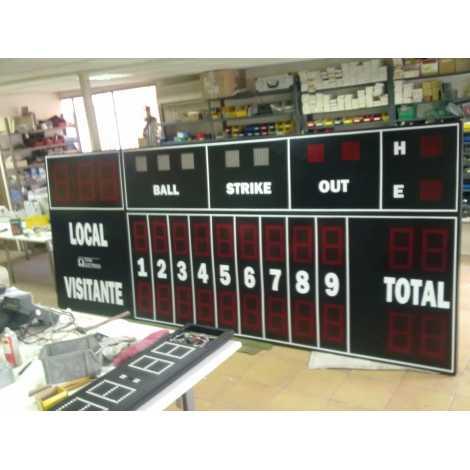 MDG BSB D25 - Tableaux d'affichage d'extérieur pour Basseball et Softball avec 25 chiffres