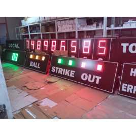 MDG BSB D28R - Marcador electrònic esportiu de Beisbol i Softbol de 28 dígits
