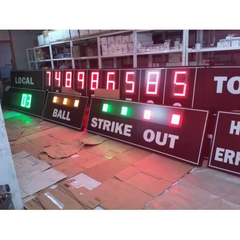 MDG BSB D28R - Marcador electrònic de Beisbol i Softbol de 28 dígits