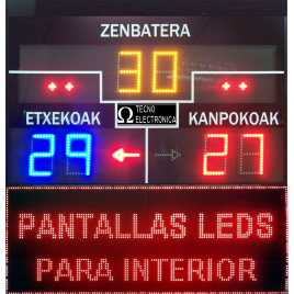 MDG FRONT D6S - Electronic scoreboard for Fronton and Ball