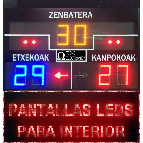MDG FRONT D6S - Electronic scoreboard for Fronton and Pelota