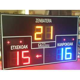 MDG FRONT D6N - Electronic scoreboard for Fronton and Pelota