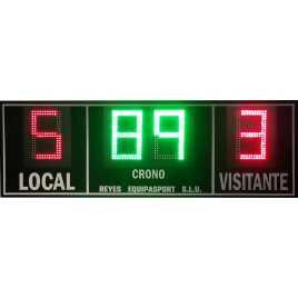 Marcador electrónico de fútbol, hockey, rugby y polo modelo MDG EXT D4RB