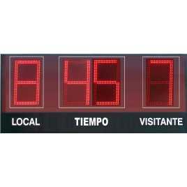 MDG EXT D4RN - Segnapunti elettronici da esterno per calcio a quattro cifrertivi all'aperto per esterno