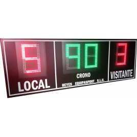 MDG EXT D4RS - Segnapunti elettronici da esterno per calcio a quattro cifrertivi all'aperto per esterno