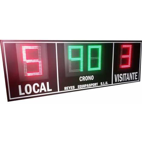 MDG EXT D4RS - Placar eletrônico esportivo ao ar livre de quatro dígitos