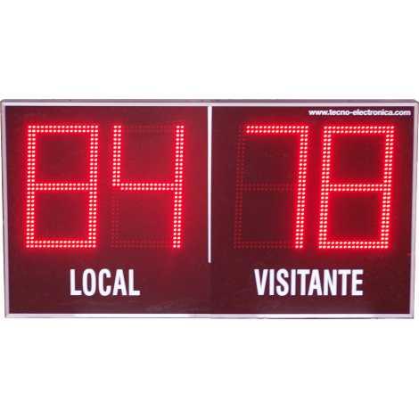 MDG EXT D4TB - Electronic placar exterior esportivo de quatro dígitos