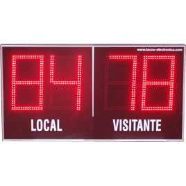 MDG EXT D4TS - Segnapunti elettronici da esterno per calcio a quattro cifre di 18 cm. altezza