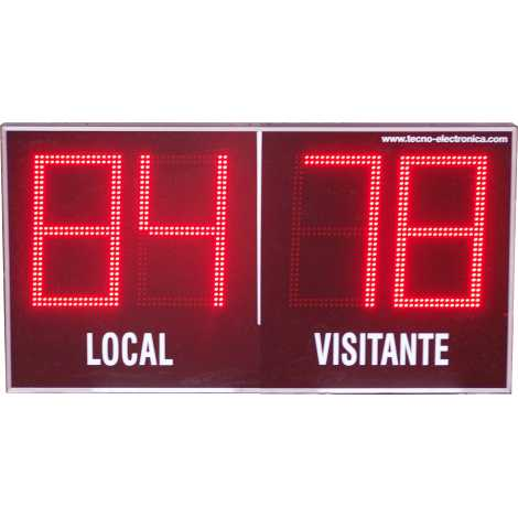 MDG EXTD4TS - Electronic scoreboard Outdoor Scoreboard four digits of 18 cm. height