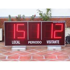 MDG EXT D5N - Electronic placar ao ar livre ostentando cinco dígitos