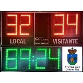 Marcador electrónico de fútbol, hockey, rugby y polo modelo MDG EXT D8B