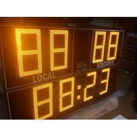 Marcador electrónico de fútbol, hockey, rugby y polo modelo MDG EXT D8N