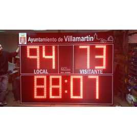 MDG D8S EXT - Segnapunti elettronici da esterno per calcio otto cifre