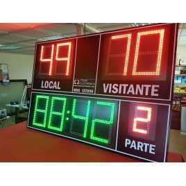 Marcador electrónico de fútbol, hockey, rugby y polo modelo MDG EXT D9B