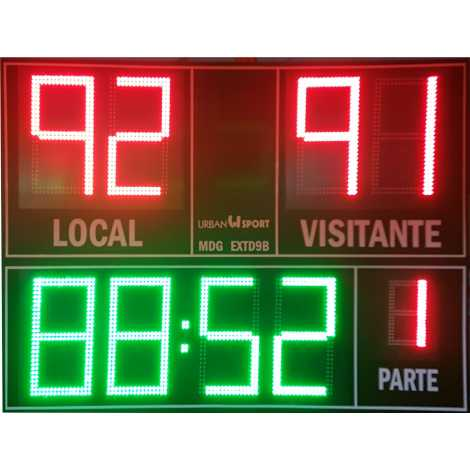 MDG EXT D9B - Electronic placar exterior esportivo nove dígitos