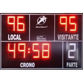 Marcador electrónico de fútbol, hockey, rugby y polo modelo MDG EXT D9N