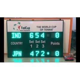 MDG TN5SN - Tableau de bord électronique Sports Tennis pour 5 ensembles