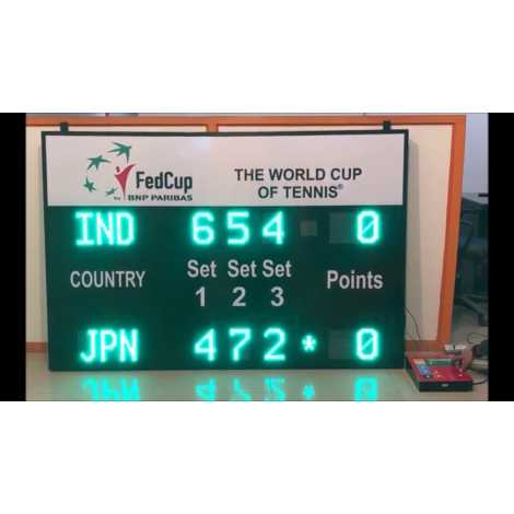 MDG TN5N - Painel de avaliação Ténis Electronic Sports por 5 sets.