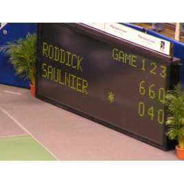 MDG TN5N - Electronic scoreboard Tennis Scoreboard for 5 sets.