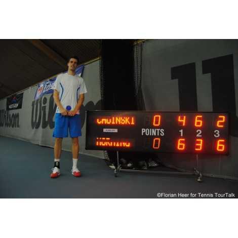 MDG TN5SS - Electronic scoreboard Tennis Scoreboard for 5 sets.