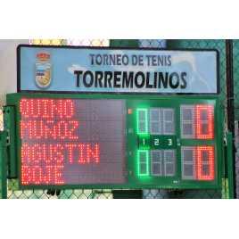 MDG TN3SS - Tableaux d'affichage d'extérieur pour Tennis tableau avec 3 séries.