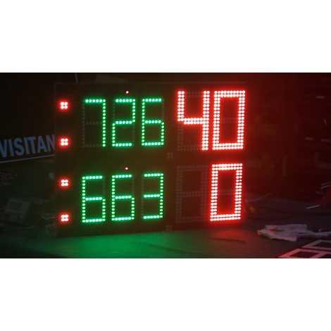 MDG TN3SN - Electronic scoreboard Tennis Scoreboard for 3 sets.