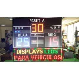 MDG VAL D6S - Placar eletrônico para as modalidades de beisebol Valenciana i Corda e escala de pontuação