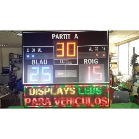 MDG VAL D6S - Electronic placar bola Valenciana feito com dígitos 18 cm. altura
