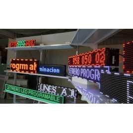 Banderolas para comercios con pantallas led monocolor y bicolor