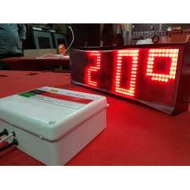 RTG 1N - Horloge en temps réel et chiffres de la température d'un cà´té et de 27 cm. Haut