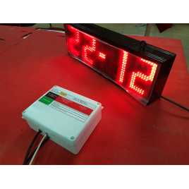 Reloj electronico de led con indicador de hora, fecha y temperatua modelo RTG 1B