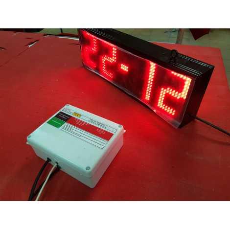 RTG 1B - Relógio electrónico e da temperatura em tempo real, de um lado e 50 dígitos cm. altura