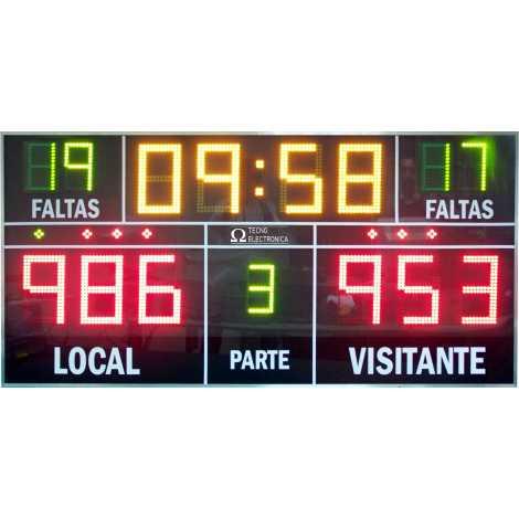 MDG D15J - Esporte placar eletrônico com 15 dígitos
