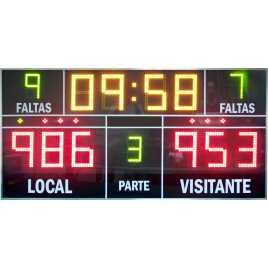 MDG D13- Marcador electrónico para baloncesto, marcador electrónico para balonmano, marcador electrónico para voleybol, marcador