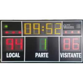 MDG D9N - Electronic scoreboard sport with 9 Digits of 27 cm. height