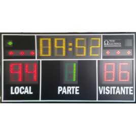 MDG D9N - Tabellone elettronico per palazzetti sportivi e grandi palestre con 9 cifre di 27 cm. altezza