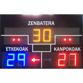 MDG FRONT D6N - Electronic scoreboard for Fronton and Ball