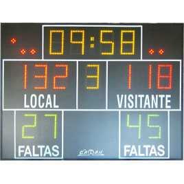 MDG D15S - Marcador electrónico para baloncesto, marcador electrónico para balonmano, marcador electrónico para voleybol, marcad