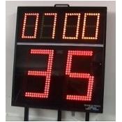 Marcador de posesion de balon y tiempo de partido