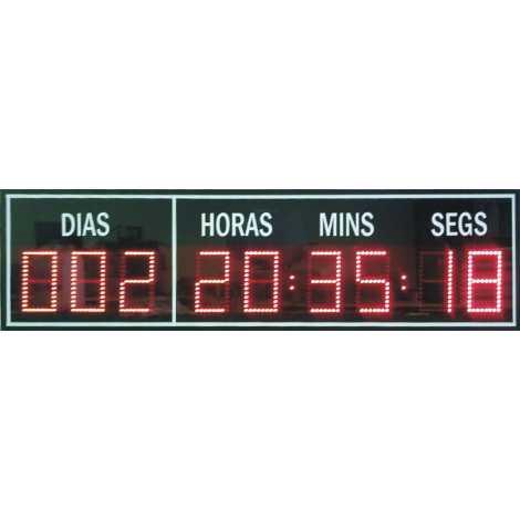 Contador de días con dígitos de 10 cm. de altura