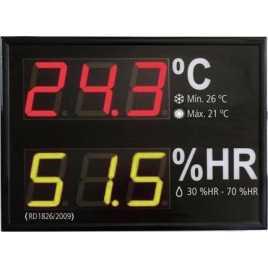 MGHT 62S - indicador de umidade relativa e temperatura de duas linhas