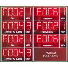 STN PANR7Z - Display eletrônico de resultados de sete áreas para os organizadores de filas sistemas de esperar