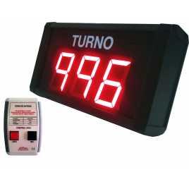 STN D73SRM - Panneau électronique pour la gestion d'attente avec trois stations de radio chiffres rouges