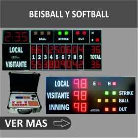 Marcadores electrónicos deportivos de béisbol